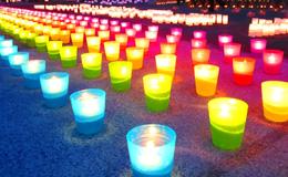 枚方市「平和の燈火(あかり)」開催<br />~平和への思い、東北被災地復興への思い~